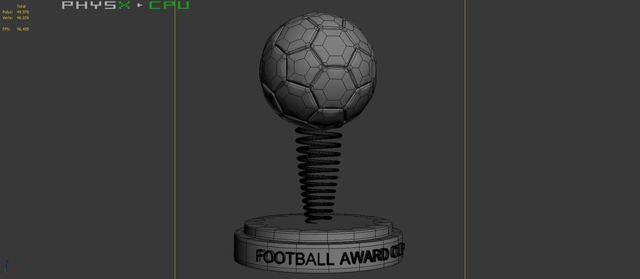 Football Award Cup 02 royalty-free 3d model - Preview no. 9