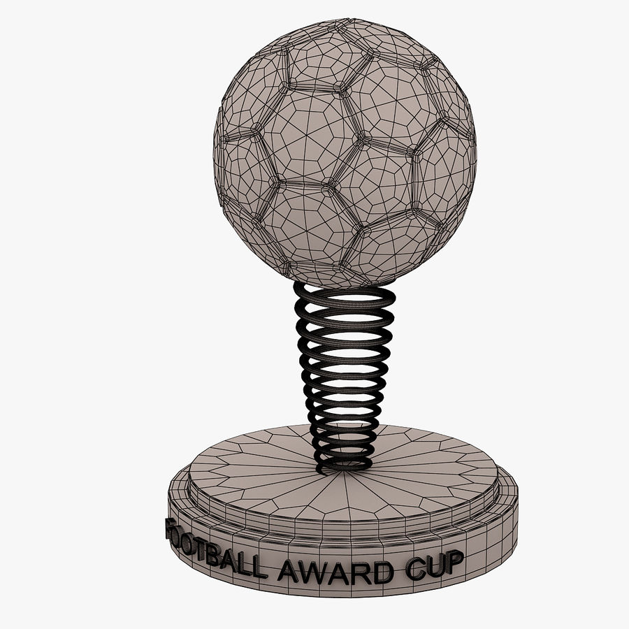 Football Award Cup 02 royalty-free 3d model - Preview no. 6