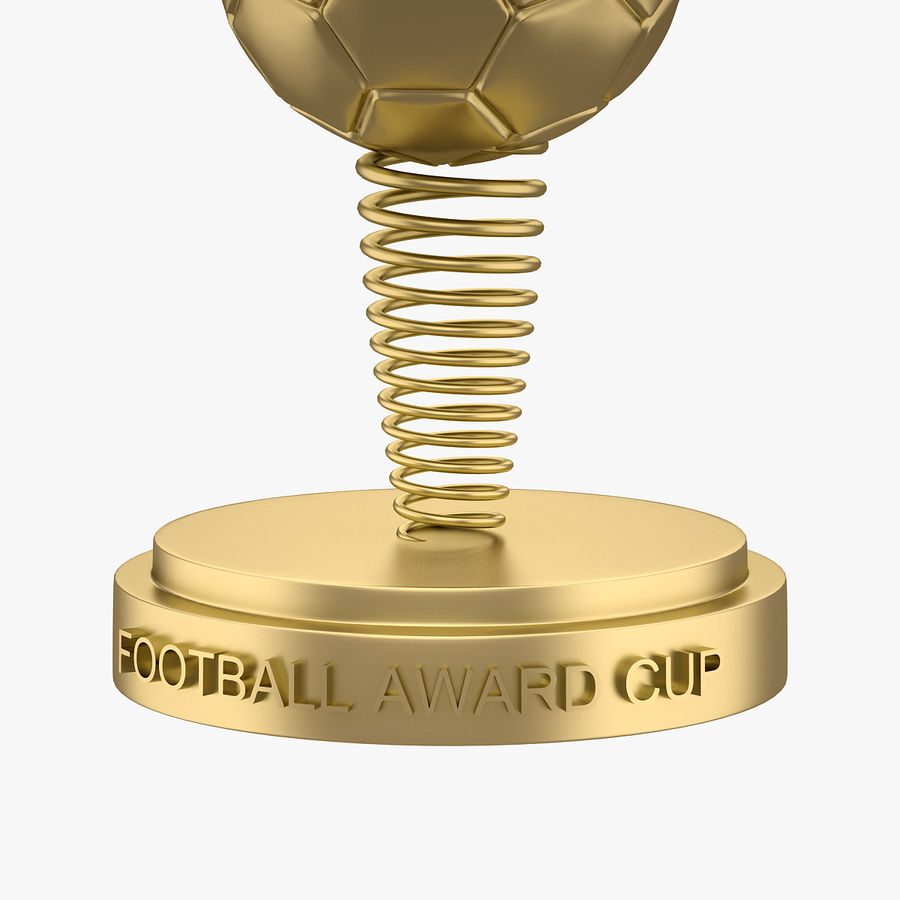 Football Award Cup 02 royalty-free 3d model - Preview no. 3