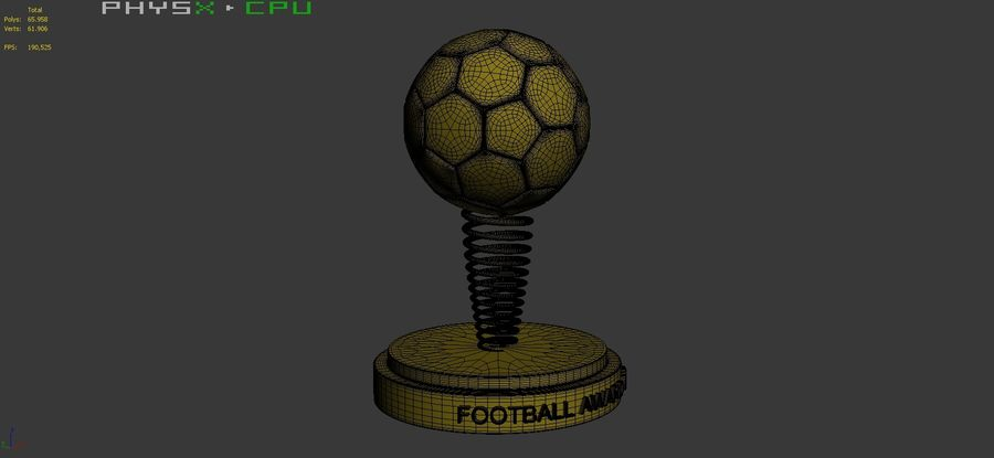 Football Award Cup 02 royalty-free 3d model - Preview no. 11