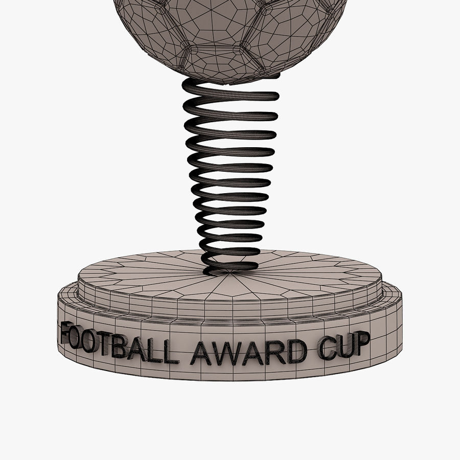 Football Award Cup 02 royalty-free 3d model - Preview no. 7