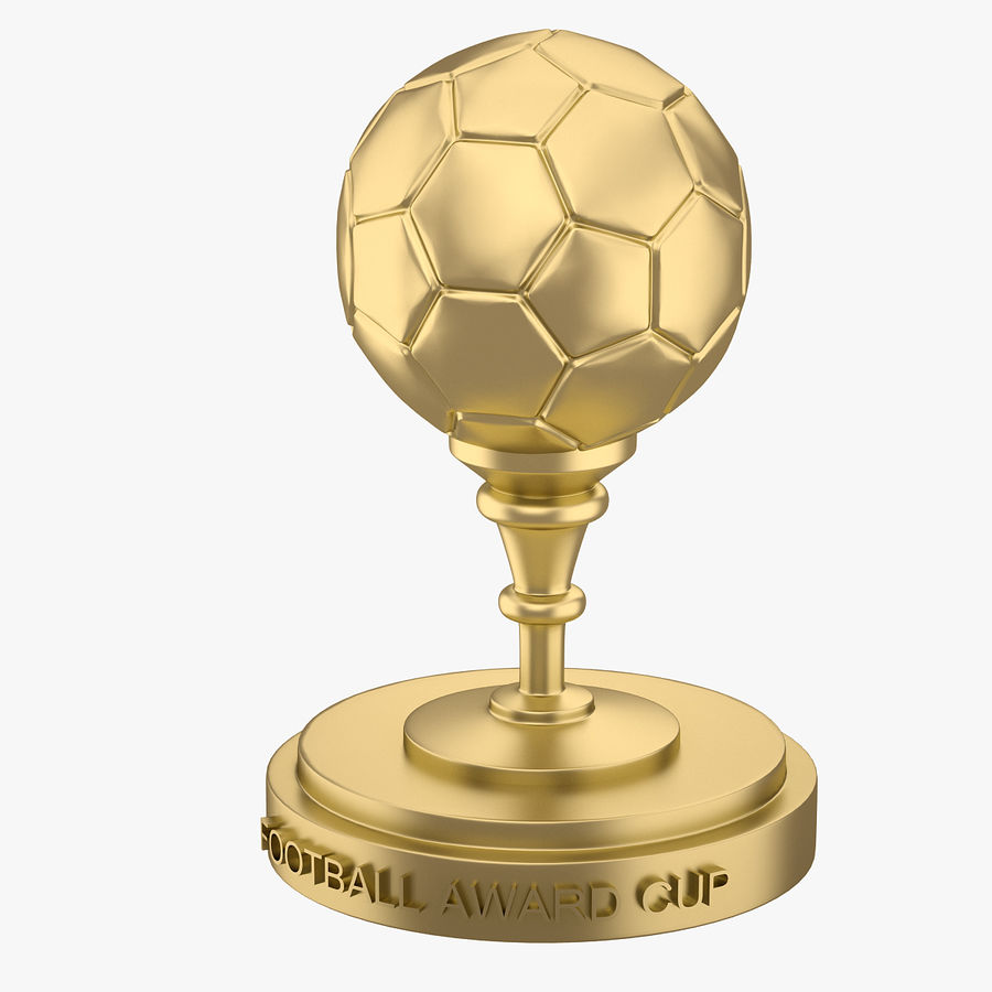Football Award Cup 03 royalty-free 3d model - Preview no. 2