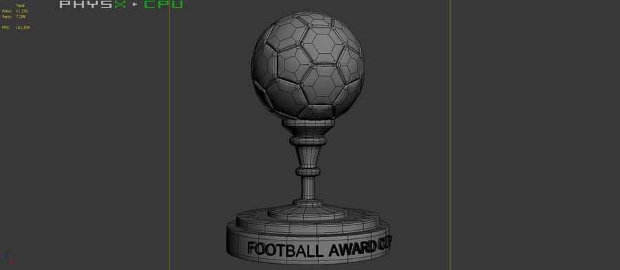 Football Award Cup 03 royalty-free 3d model - Preview no. 9