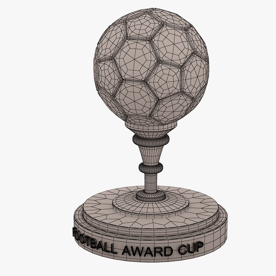 Football Award Cup 03 royalty-free 3d model - Preview no. 6