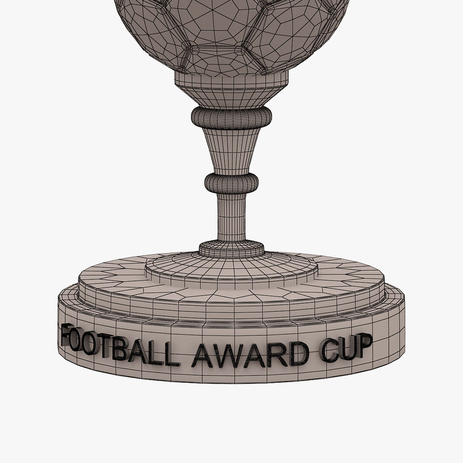 Football Award Cup 03 royalty-free 3d model - Preview no. 7
