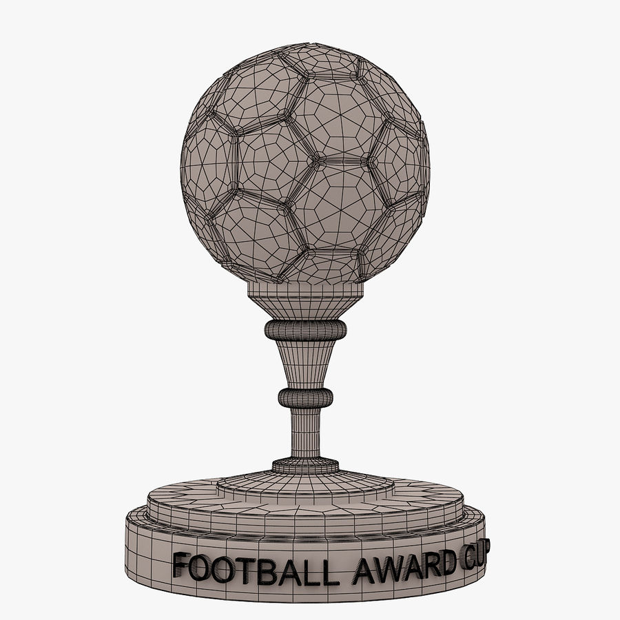 Football Award Cup 03 royalty-free 3d model - Preview no. 5