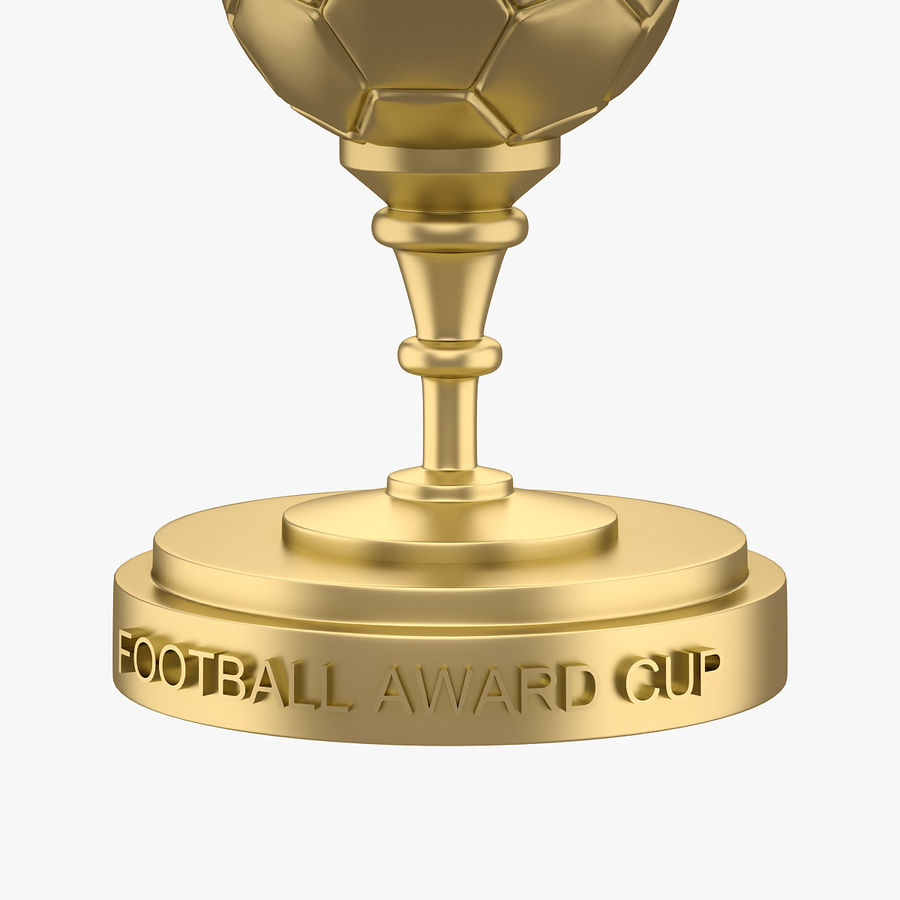 Football Award Cup 03 royalty-free 3d model - Preview no. 3
