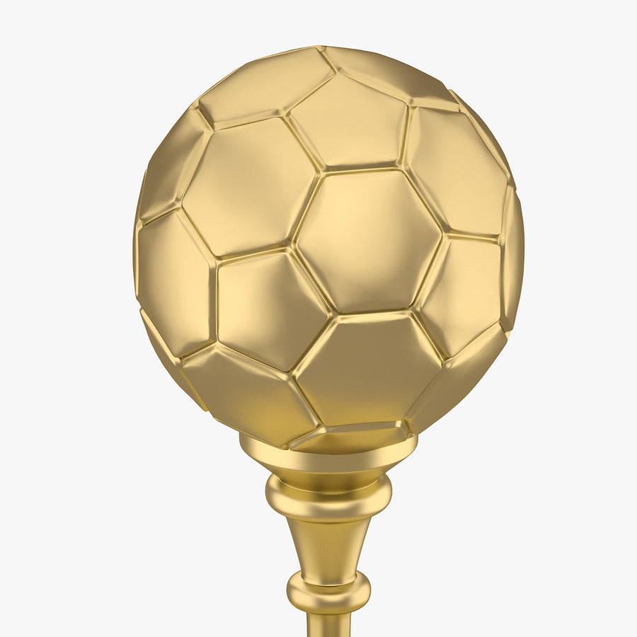 Football Award Cup 03 royalty-free 3d model - Preview no. 4