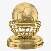 Football Award Cup 04 3d model