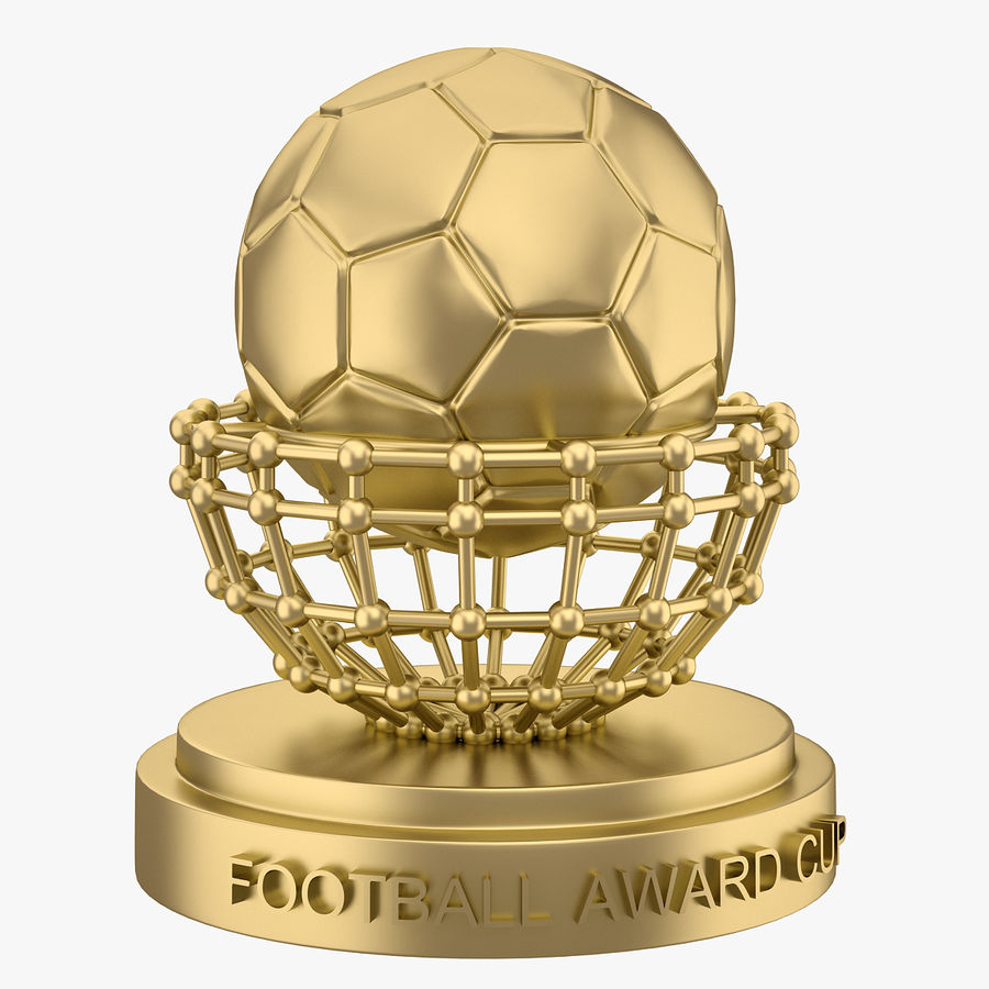 Football Award Cup 04 royalty-free 3d model - Preview no. 1