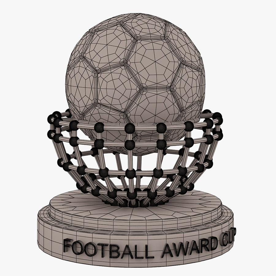 Football Award Cup 04 royalty-free 3d model - Preview no. 5