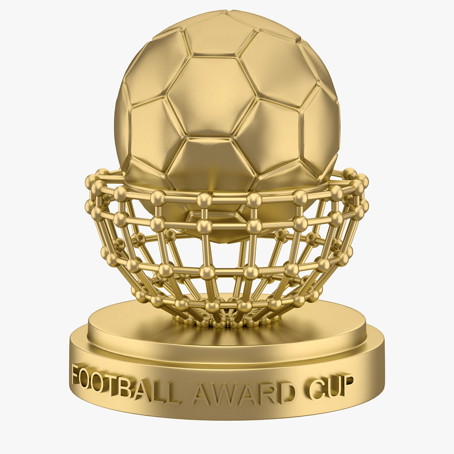 Football Award Cup 04 royalty-free 3d model - Preview no. 3