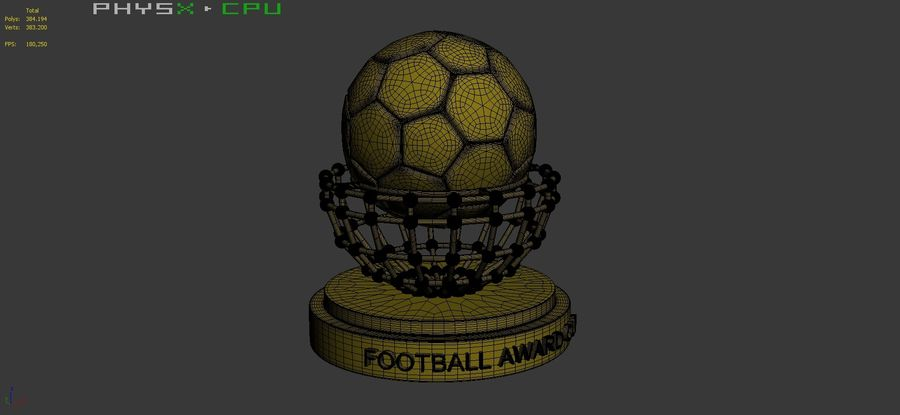Football Award Cup 04 royalty-free 3d model - Preview no. 11