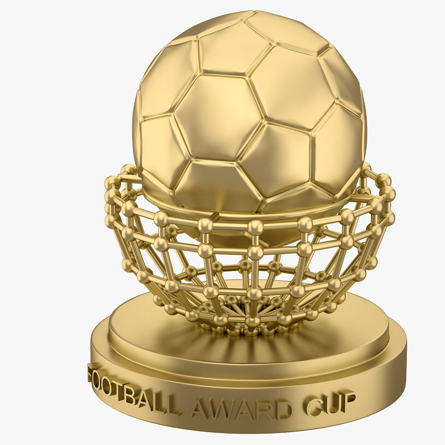 Football Award Cup 04 royalty-free 3d model - Preview no. 2