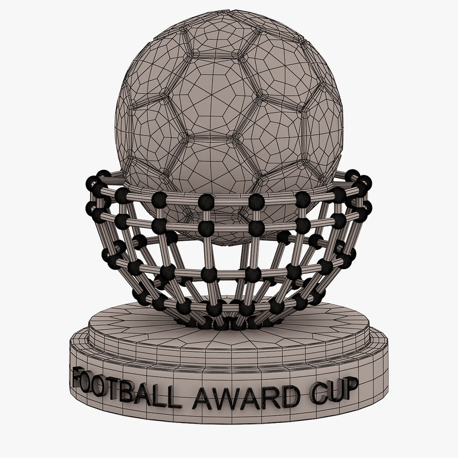 Football Award Cup 04 royalty-free 3d model - Preview no. 7