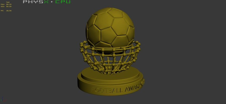 Football Award Cup 04 royalty-free 3d model - Preview no. 10