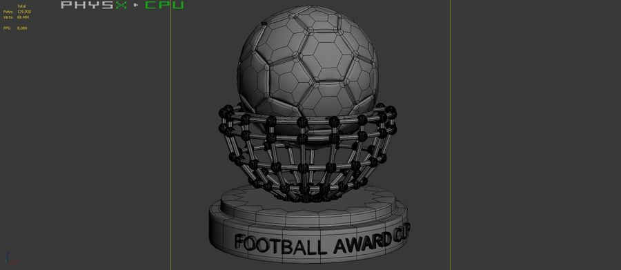 Football Award Cup 04 royalty-free 3d model - Preview no. 9