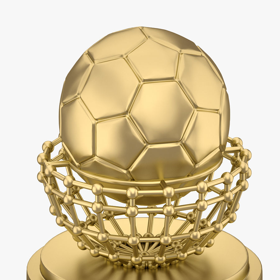 Football Award Cup 04 royalty-free 3d model - Preview no. 4