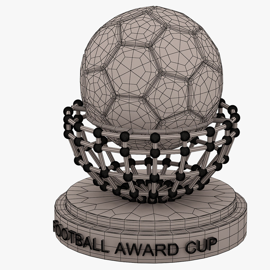 Football Award Cup 04 royalty-free 3d model - Preview no. 6