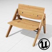 우리는 목제 Komplett 라운지 용 의자 UE4를합니다 3d model