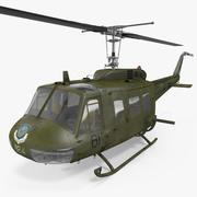 Military Utility Helicopter Bell UH-1 Iroquois 3d model