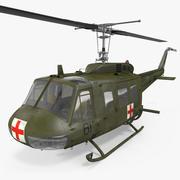贝尔UH-1 Iroquois MedEvac 3d model