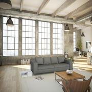 Salon w stylu Loft v3 3d model