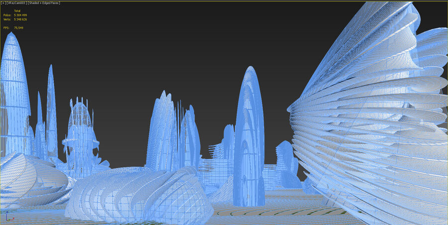 Ciudad futura royalty-free modelo 3d - Preview no. 30