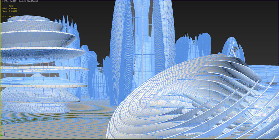 Ciudad futura royalty-free modelo 3d - Preview no. 31