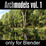 Blender卷的建筑模型。 1个 3d model