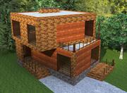 Casa de campo cualitativa de alta tecnología (1) modelo 3d