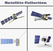 Coleção de Satélites 3d model