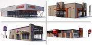 Coleção de restaurantes de fast food 3d model