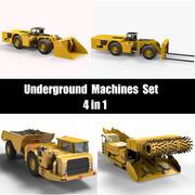 Underground Machines Set 3d model