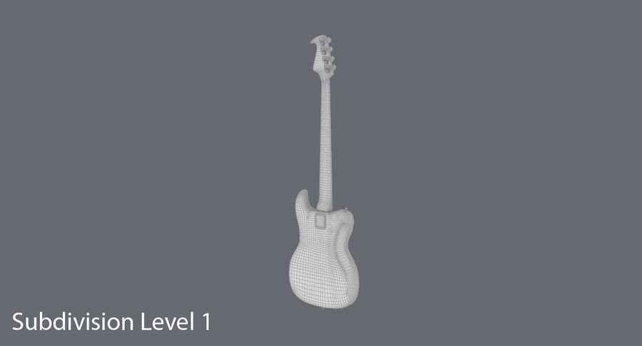Bas gitarr royalty-free 3d model - Preview no. 19