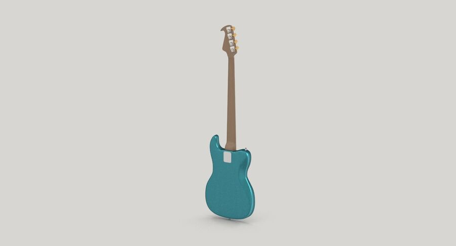 Bas gitarr royalty-free 3d model - Preview no. 6