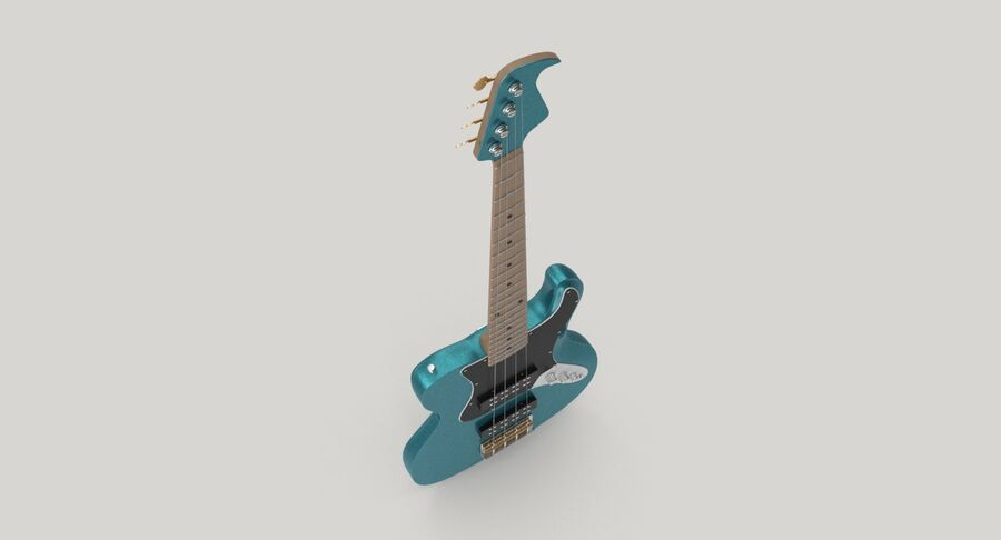 Bas gitarr royalty-free 3d model - Preview no. 8