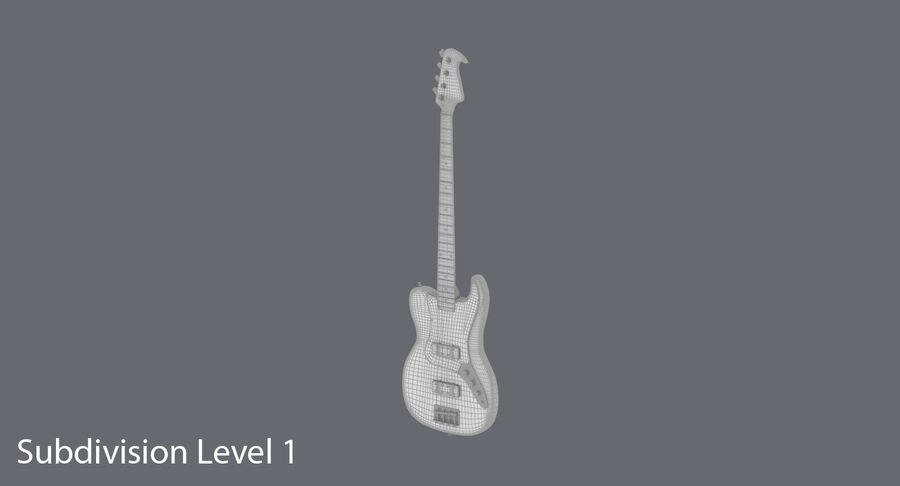 Bas gitarr royalty-free 3d model - Preview no. 17