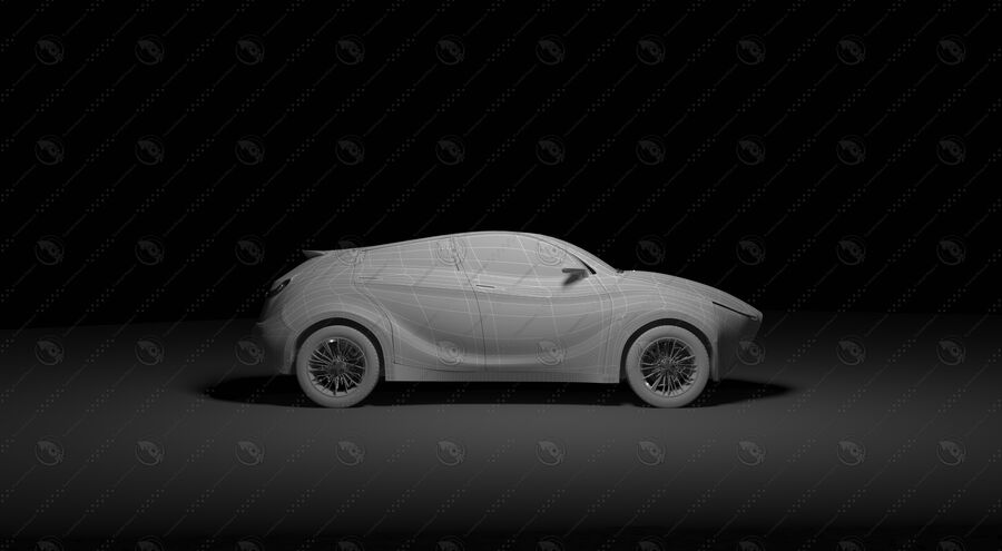 Luceat SUV Car Vehicle royalty-free 3d model - Preview no. 20
