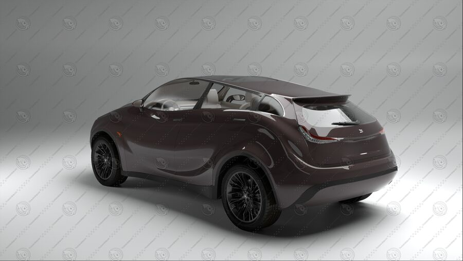 Luceat SUV Car Vehicle royalty-free 3d model - Preview no. 4