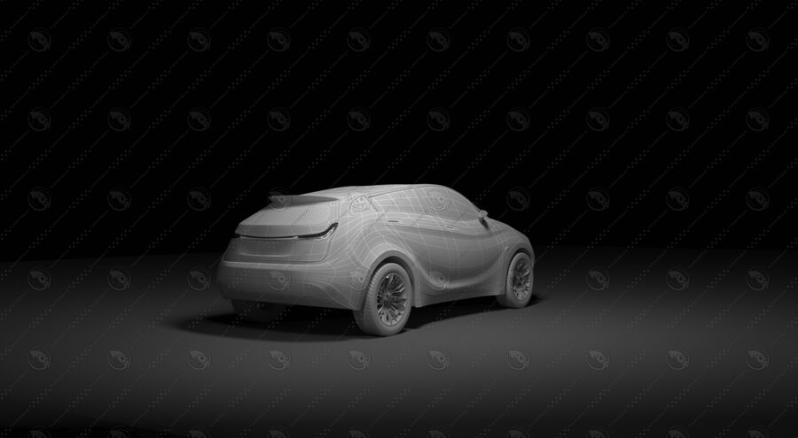 Luceat SUV Car Vehicle royalty-free 3d model - Preview no. 23