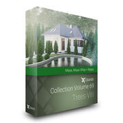 CGAxis 모델 Volume 69 Trees VIII Maya 3d model
