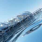 Futuristic Architectural Structure 17 3d model