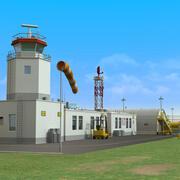 平民机场 3d model