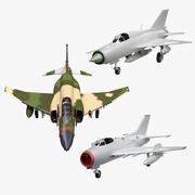 Coleção F-4 vs MIG-19 e MIG-21 3d model