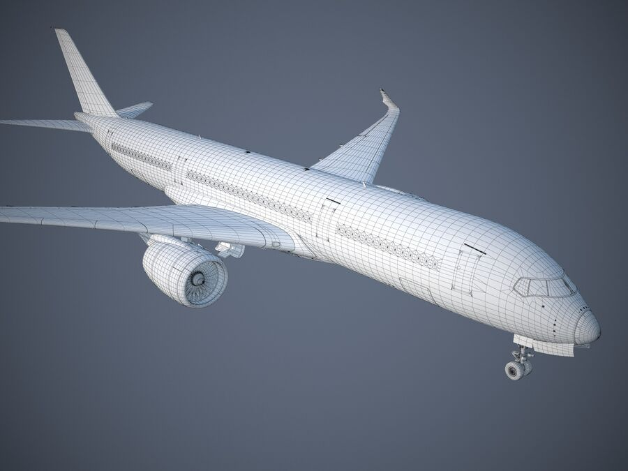 Avião a jato genérico royalty-free 3d model - Preview no. 25