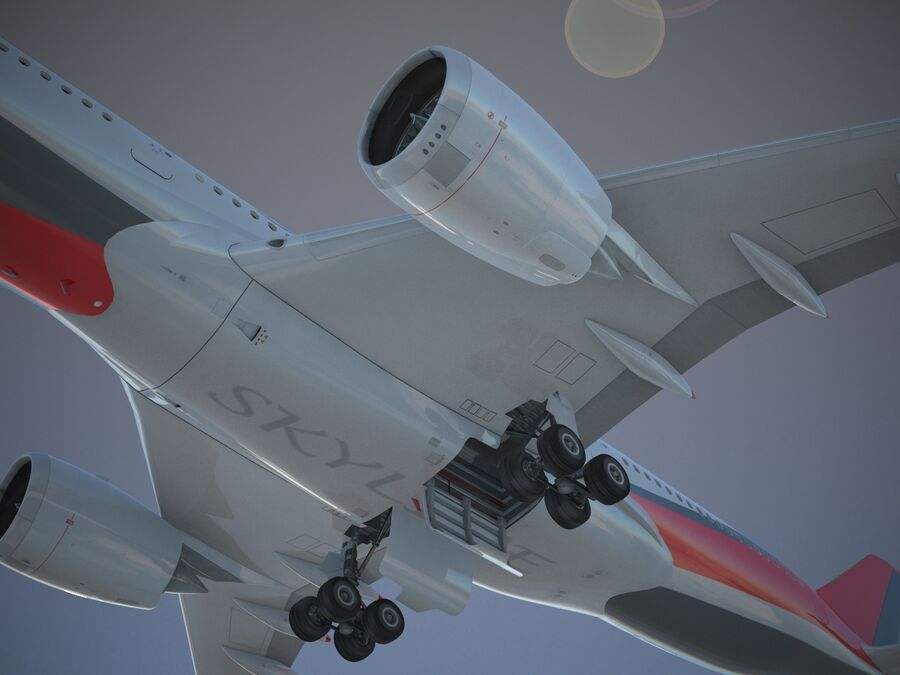 Avião a jato genérico royalty-free 3d model - Preview no. 8