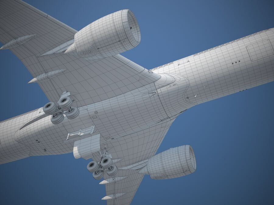 Avião a jato genérico royalty-free 3d model - Preview no. 26