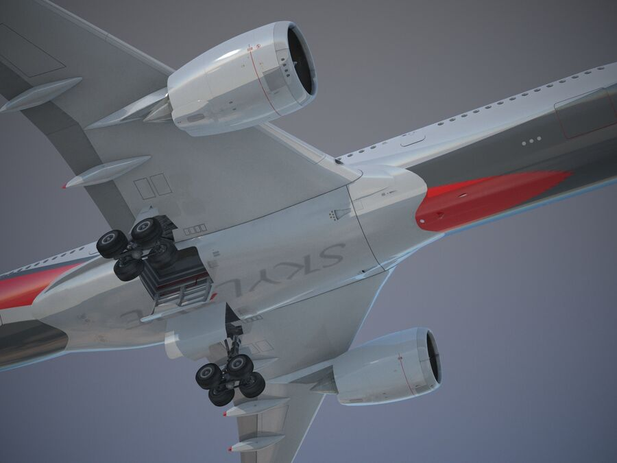 Avião a jato genérico royalty-free 3d model - Preview no. 3