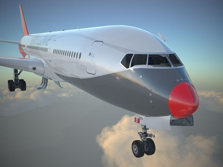 Avião a jato genérico royalty-free 3d model - Preview no. 6